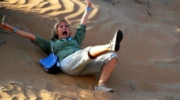 When a Blonde falls in the Empty Quarter can you hear her? (Yes.)